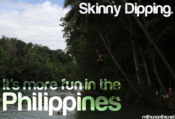 Skinny dipping Its more fun in the Philippines