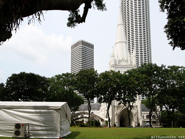 St. Andrews cathedral Singapore lawn