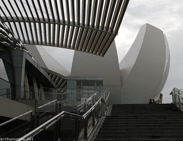 Steps to Arts Science museum Singapore Marina bay