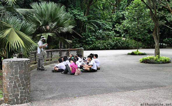 Students Singapore botanic park