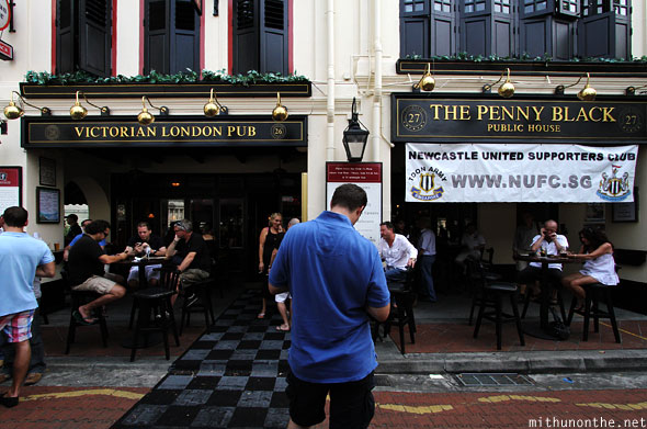 Victorian London Pub Penny Black boat quay Singapore