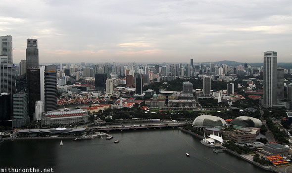 View from Sands Skypark Marina Bay Singapore