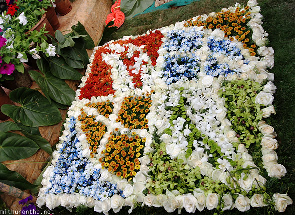 White flower design Lal Bagh Republic day show