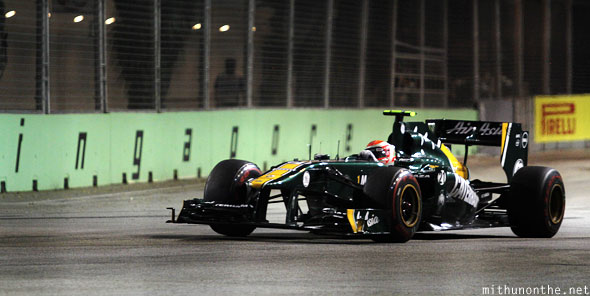 Air Asia racing F1 Lotus car Singapore GP
