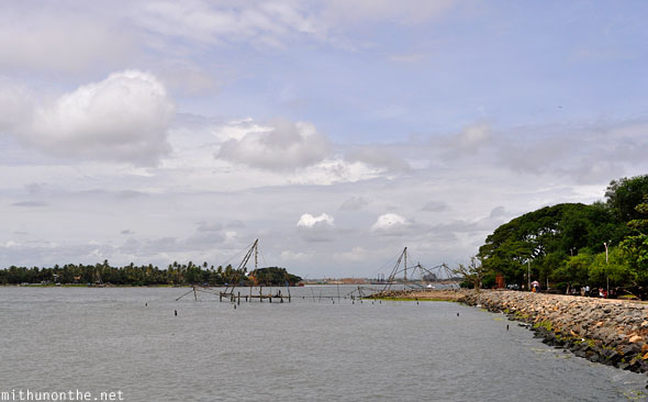 Arabian sea backwaters Fort Cochin fishing nets