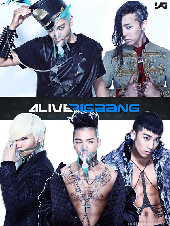 Big Bang Alive TOP G-Dragon Daesung Taeyang Seungri k-pop