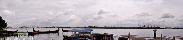 Cochin port Kerala panorama