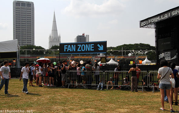 Fanzone section Padang concert Linkin Park Singapore gp