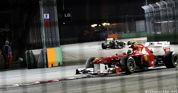 Ferrari racing Singapore F1 car