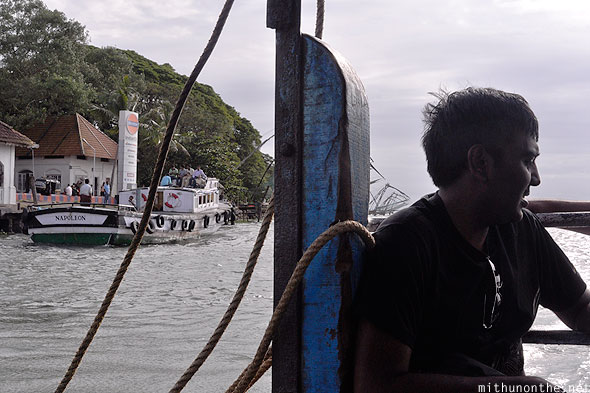 Ferry from Fort Kochi to Vypin island Kerala