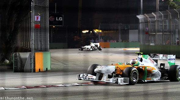 Force India F1 car Singapore GP