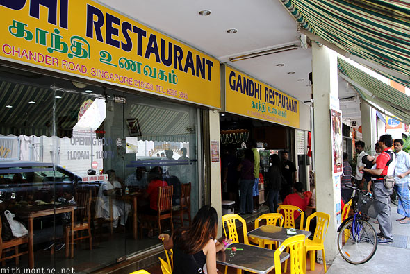Gandhi restaurant Little India Singapore