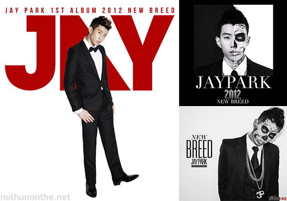 Jay Park New Breed 1st album covers K-pop