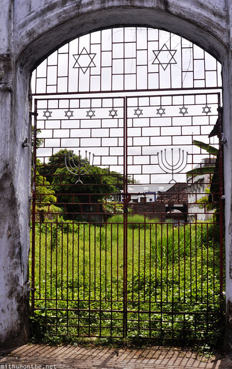 Jewish synagogue gates to ground Kochi Kerala