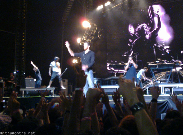 Linkin Park end of concert Singapore