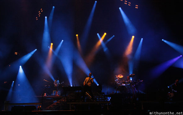 Linkin Park live stage lights Singapore concert