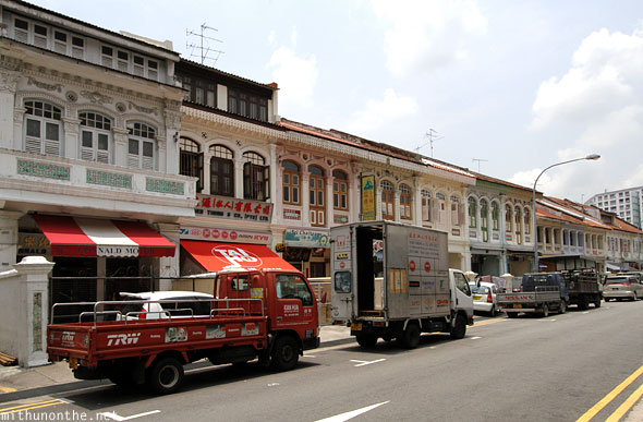 Little India colonial buildings Singapore