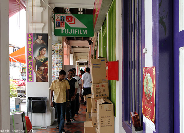 Little India shops corridor Singapore