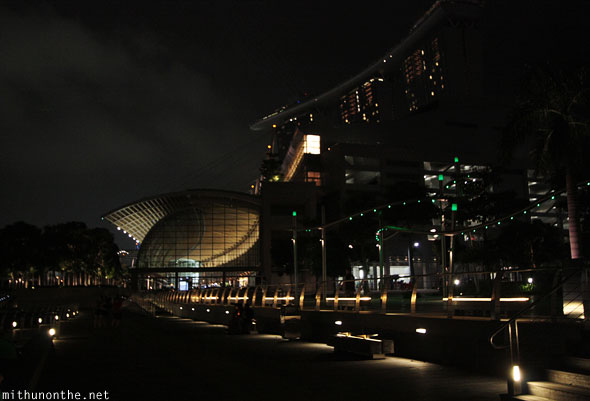 Marina Bay Sands hotel shoppes night Singapore