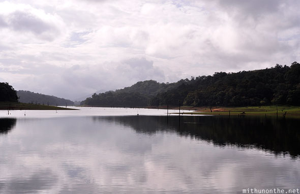 Morning sky Thekkady Periyar lake Kerala clouds