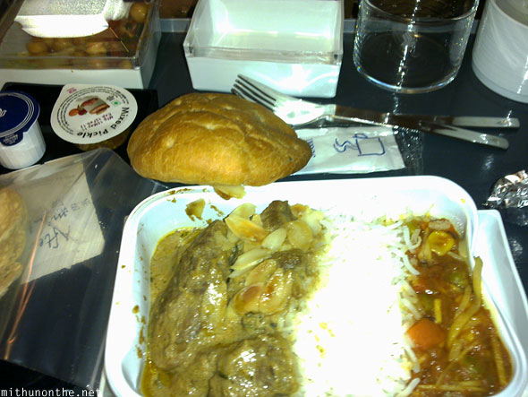 Mutton korma rice Singapore Airlines meal