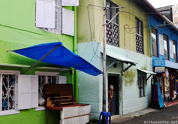 Old houses Fort Cochin Jew town Kerala