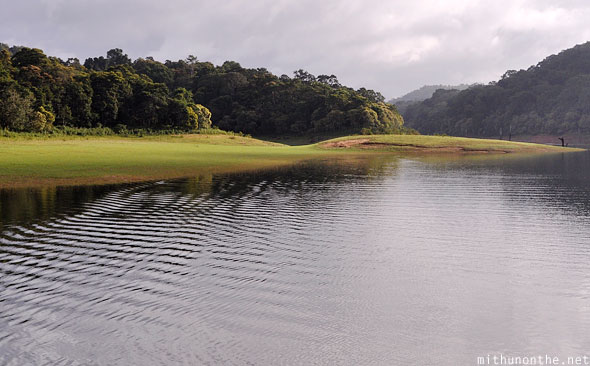 Periyar lake ripples water Thekkady Kerala India