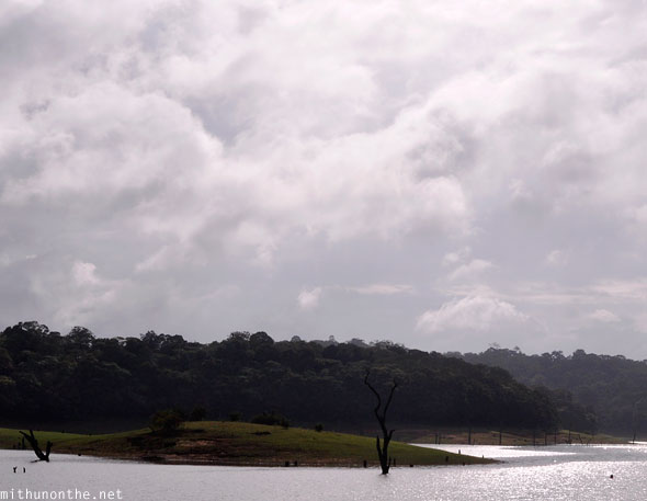 Periyar lake wildlife sanctuary clouds Thekkady Kerala