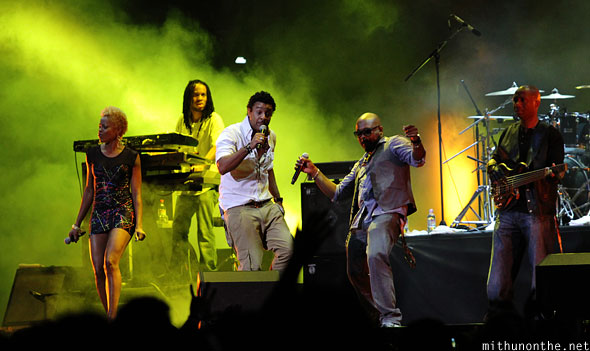 Shaggy reggae band Singapore F1 concert