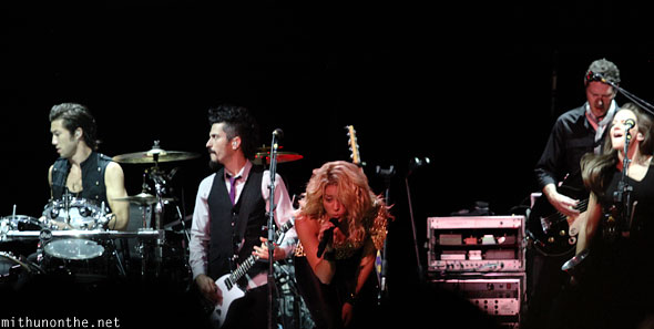 Shakira band performing Singapore gp concert