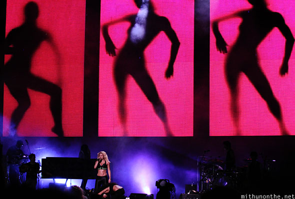 Shakira stage visuals Singapore F1 concert