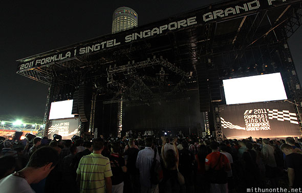 Singapore Formula 1 Padang main stage