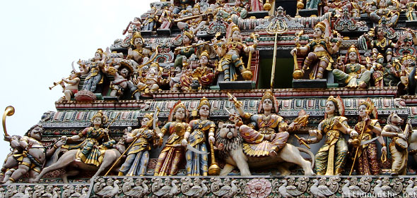 Sri Veeramakaliamman temple Indian gods models