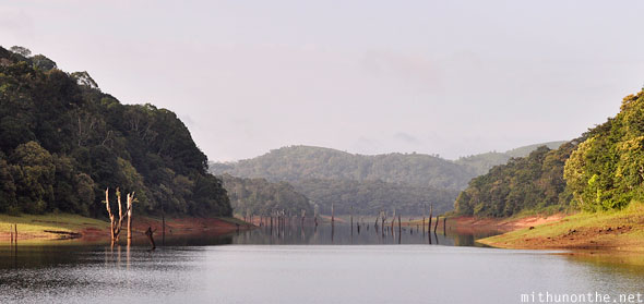 Thekkady Periyar lake morning kerala India