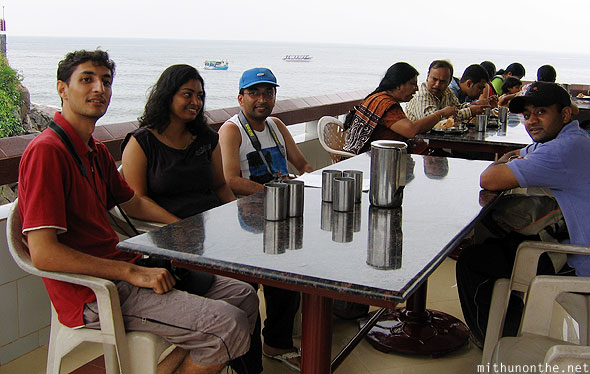 Alok Ashwin breakfast at Murdeshwara India