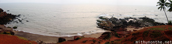 Anjuna beach panorama Goa India