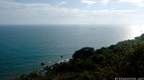 Arabian sea view from Aguada Fort Goa India