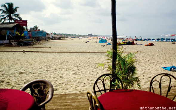Baga beach cafe Goa