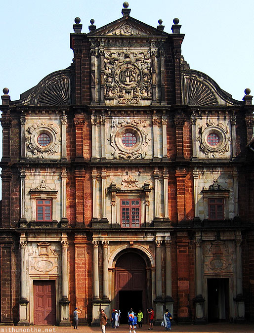 Bom Jesus Basilica church facade Goa