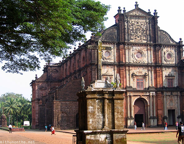 Bom Jesus Basilica church Goa India