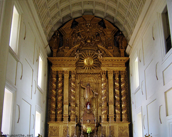 Bom Jesus Basilica church gold Goa India