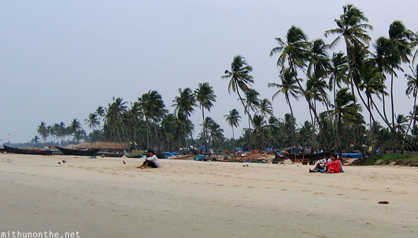 Colva beach couple India