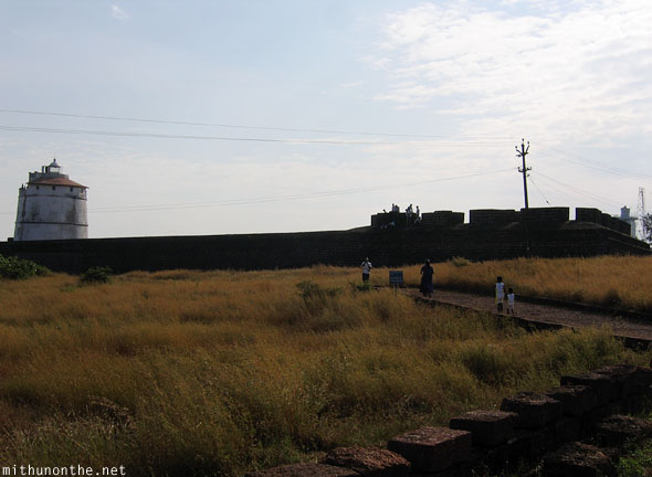 Fort Aguada grass Goa India