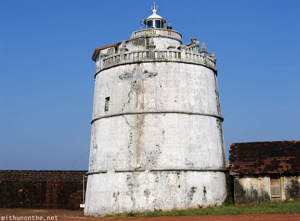 Fort Aguada lighthouse Goa India