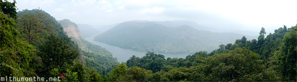 Karnataka river hills wide panorama