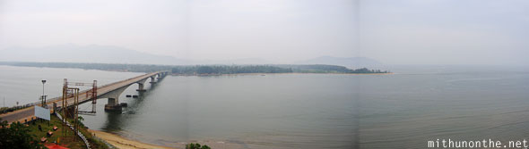 Karwar bridge Karnataka panorama India