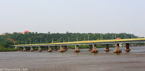 Mandovi river bridge Panjim Goa
