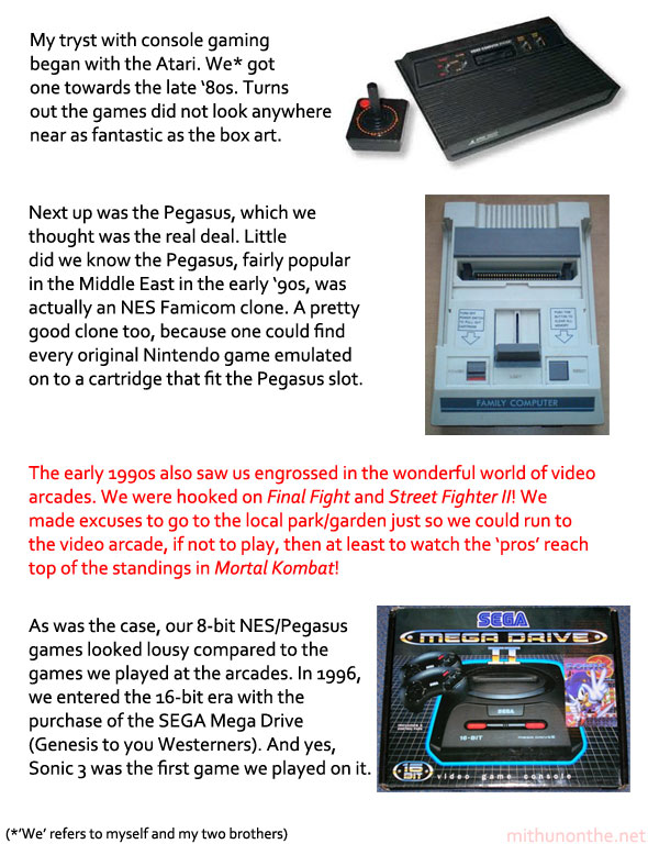 Mithun's console gaming history