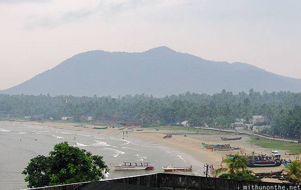 Murdeshwara beach sea coast India