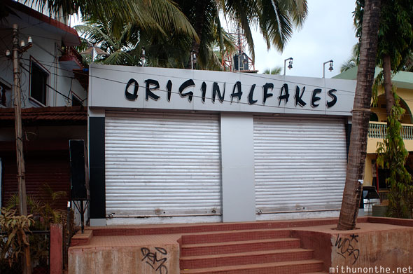 Original fakes shop Baga Goa India